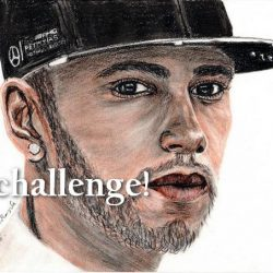 Lewis Hamilton portrait drawing